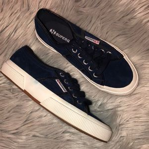 Superga Navy White Sneakers Suede 36 6